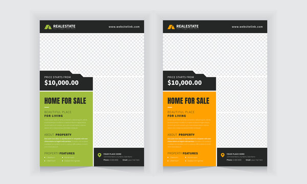 Real estate company business flyer - vector design editable all content and very suitable for multipurpose business