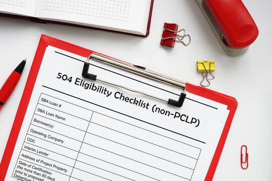 SBA form 2450 504 Eligibility Checklist (non-PCLP) Primary Care Leadership Program