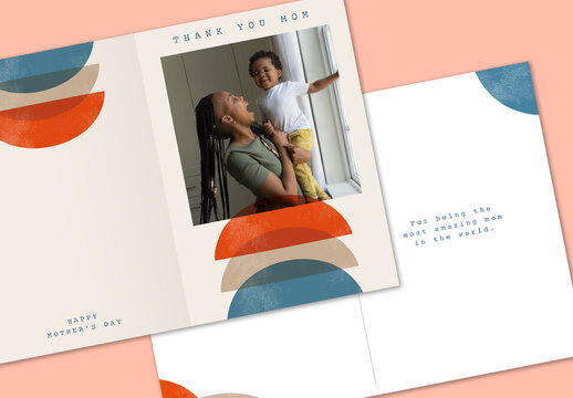 Modern Mother's Day Card Layout