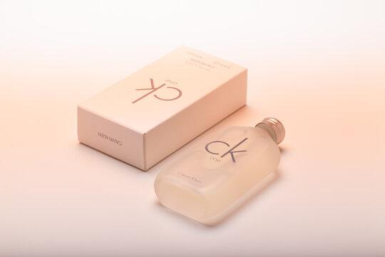 Iconic bottle of CK One Eau De Toilette Calvin Klein.