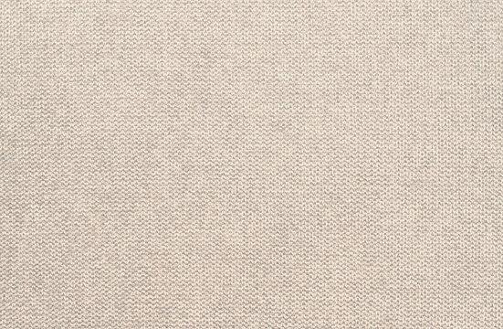 Beige cotton woven fabric texture background