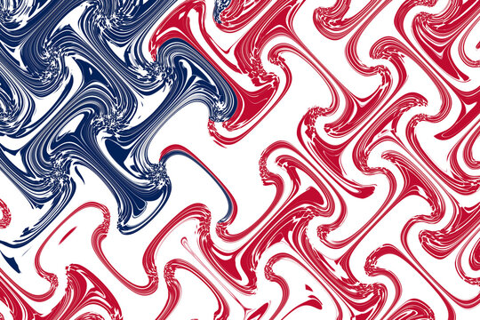 abstract overlay wave pattern american flag retro effect illustration graphic