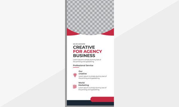 Modern business DL flyer templates design.