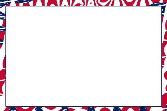 wave pattern outer boarder american flag color theme background illustration graphic