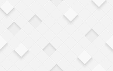 Obraz 3d seamless cubes pattern. White ceramic tile background. Abstract square diagonal mosaic. - fototapety do salonu