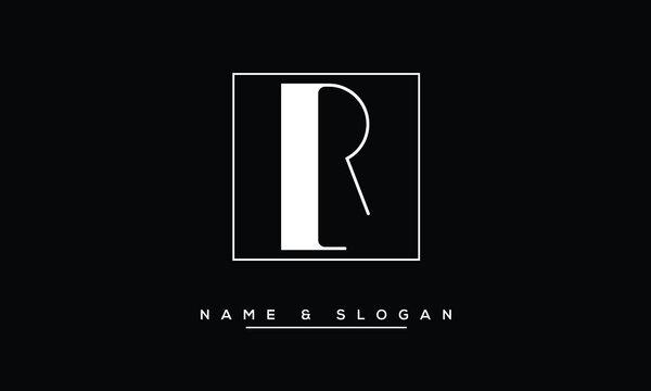 RL, LR, R, L  Abstract Letters Logo Monogram