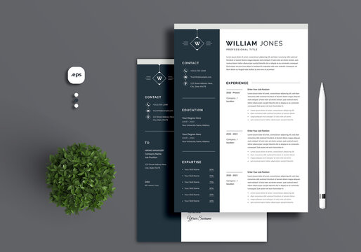 Resume/CV template with nice typography