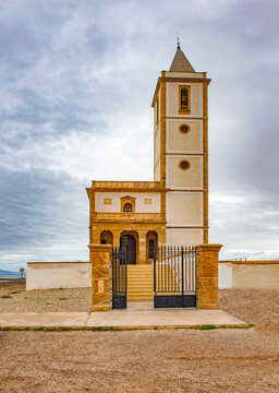 Church Cabo De Gata, near de las Salinas, Almeria , Andalucia , Spain