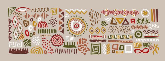 Fototapeta African art shape collection ethinc symbol isolated obraz