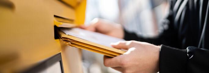 Obraz Letter In Envelope Or Document In Mailbox - fototapety do salonu