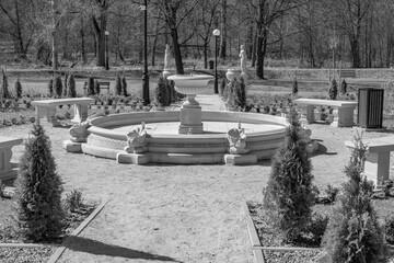 Obraz Muszyna park francuski - fototapety do salonu