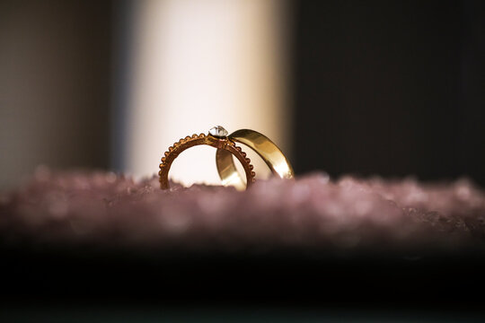 wedding rings in the night
