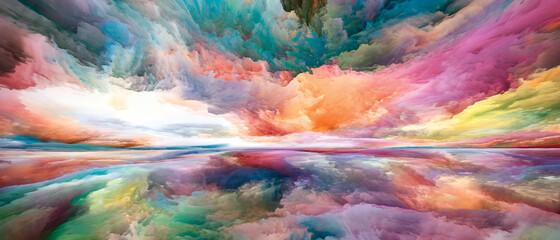 Obraz Conceptual Land and Sky - fototapety do salonu