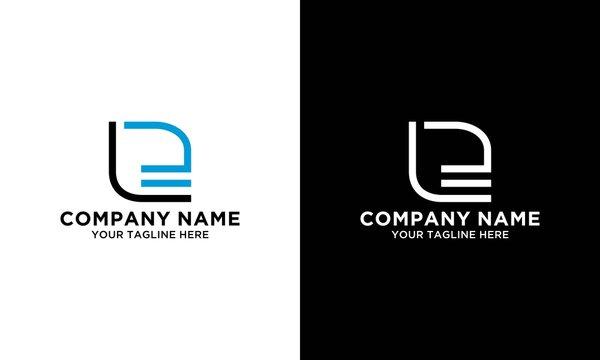 LE monogram logo design