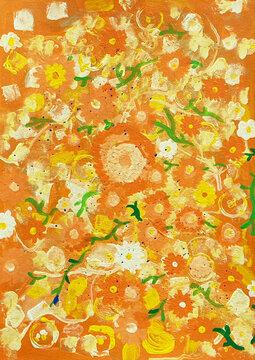 背景用花の模様