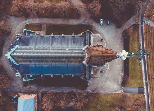 All Saints Church seen in Lund, Sweden