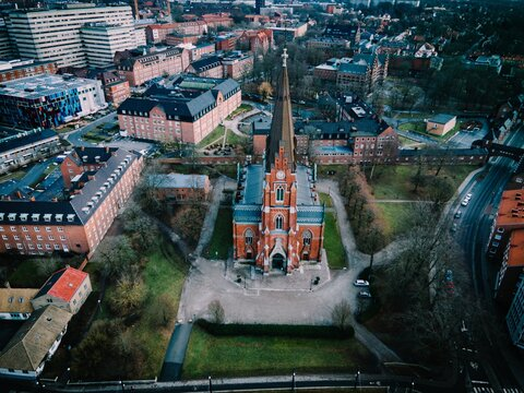 All Saints Church seen in Lund, Sweden