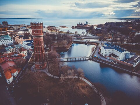 View above the Swedish city of Kalmar
