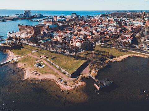 Klapphuset historical site seen in Kalmar, Sweden