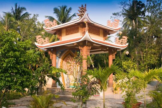 Gian Giac Pagoda, Cai Be, Mekong Delta, Vietnam south east asia