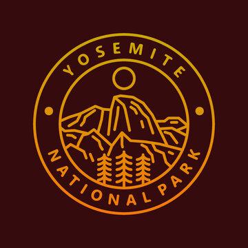 yosemite national park badge illustration