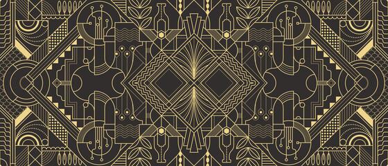 Obraz Abstract Art Deco geometric background - fototapety do salonu
