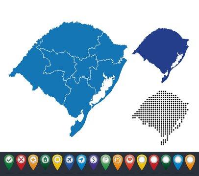 Set maps of Rio Grande do Sul state