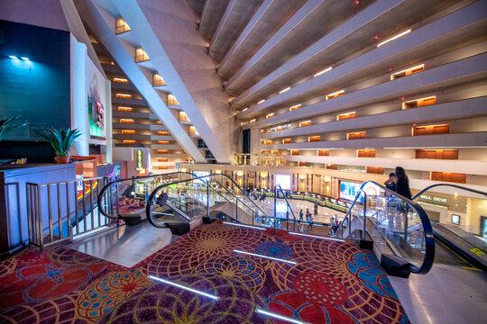 LAS VEGAS, NV - JUNE 30, 2018: Interior view of Luxor Casino