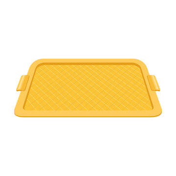 Tray for food vector cartoon icon. Vector illustration tray for food on white background. Isolated cartoon illustration icon of salver.