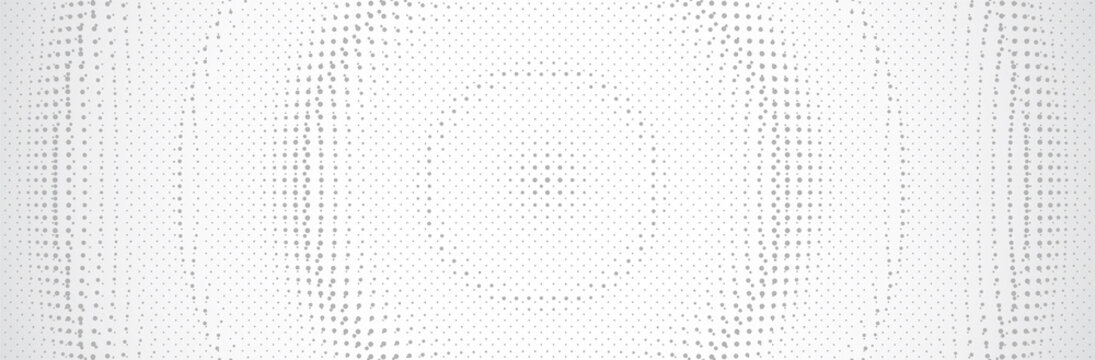 White Gray background. 3d dotted surface. Technology presentation backdrop. Vector illustration