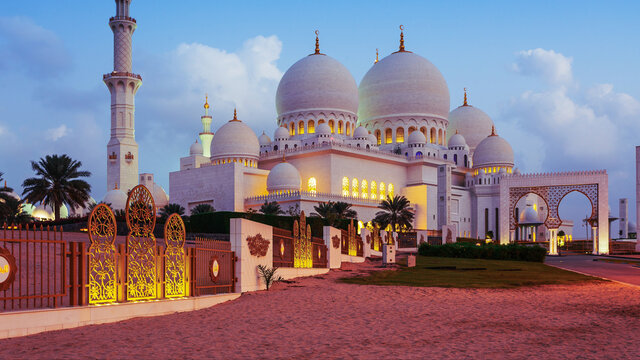 The Sheikh Zayed Grand Mosque is located in Abu Dhabi, the capital city of the United Arab Emirates.