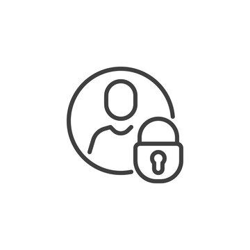 Privacy user profile line icon