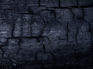 Close up of charcoal texture background. (Un-focus image)