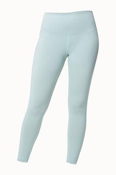 Plain blue leggings isolated sportswear apparel studio shoot