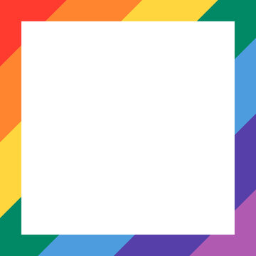 Rainbow frame for LGBTQ pride month