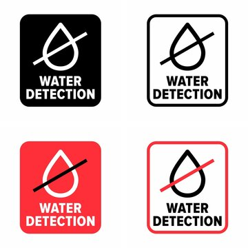 """Alerting and leaking prevention """"water detection"""" system information sign"""
