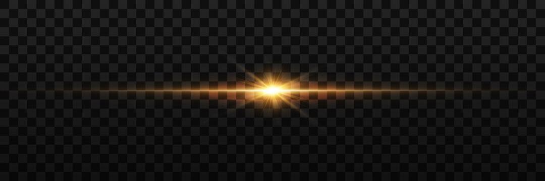 Vector transparent sunlight special lens flare light effect. PNG. Vector illustration.