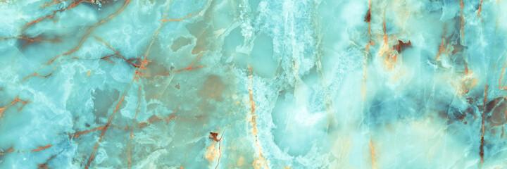 Obraz Italian marble texture background, natural aqua blue marbel tiles for ceramic wall and floor, Emperador mint  glossy granite slab stone ceramic tile, polished quartz, Mint tone Quartzite limestone. - fototapety do salonu