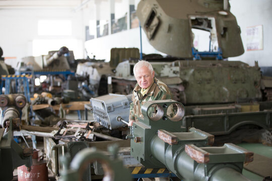 Manufacturing and maintenance of military equipment and tanks