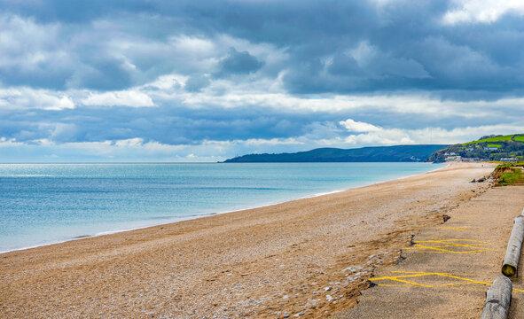 Slapton Sands Beach looking West near Dartmouth, South Devon, England, UK