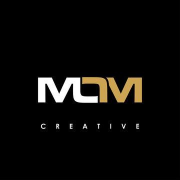 MOM Letter Initial Logo Design Template Vector Illustration
