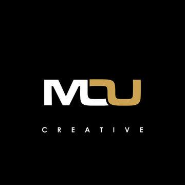 MOU Letter Initial Logo Design Template Vector Illustration