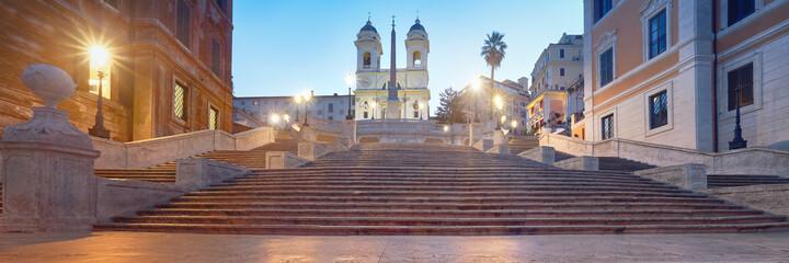 Fototapeta Monumental staircase Spanish Steps and and Trinita dei Monti chu