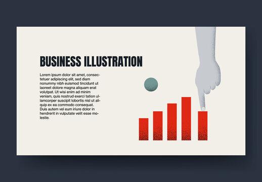 Business Chart Blog Post Layout