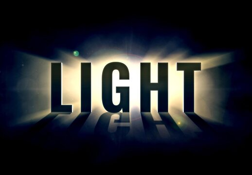 Epic Light Burst Text Effect Mockup