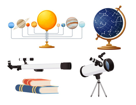 Seamless pattern Astronomy science courses online education concept or school lesson vector illustration on white background