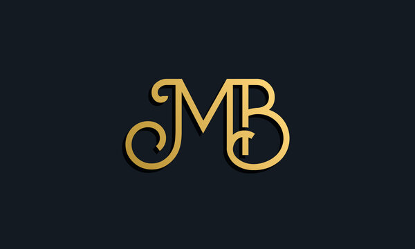 Luxury fashion initial letter MB logo.
