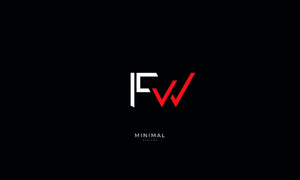 Alphabet letter icon logo FW