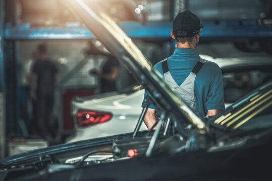 Automotive Car Service Center Worker