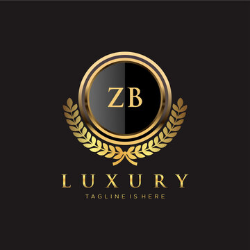 ZB Letter Initial with Royal Luxury Logo Template